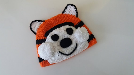Hobbes Tiger Hat Tiger Hat Knitting Baby Hat For Baby Or Etsy