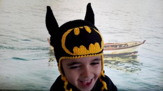 Batman Hut Baby Batman Hut häkeln Batman Ohrenklappe