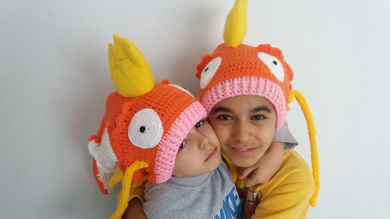 0bf387cf329 Magikarp Pokémon inspired crochet hatMagikarp Hat Pokemon