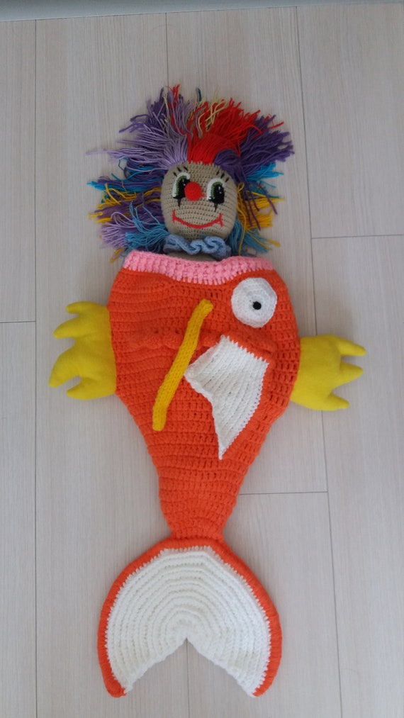d7072dcf1f9 Cuddle-Up Magicarp Amigurumi Snuggle Blanket-Baby Cocoon