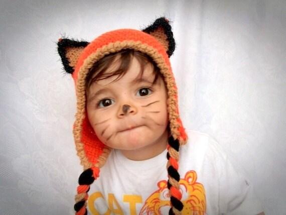Fuchs Hut häkeln Baby Hut-Fox Mütze mit Ohrenklappen   Etsy
