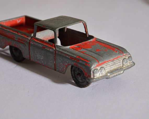 Tootsie Toy Die Cast chippy Played with Red El Camino 1960s great display piece, Vintage Die Cast Toy Car tootsietoy