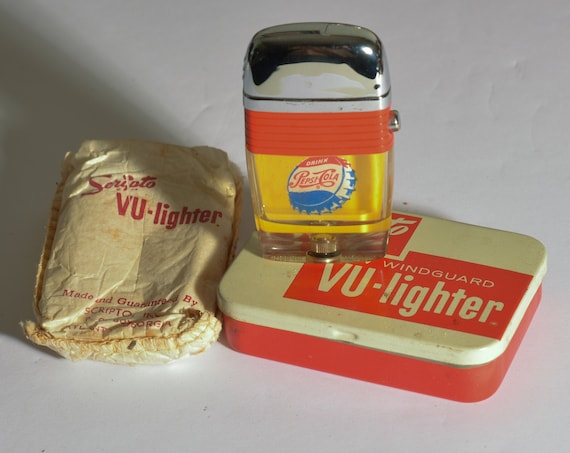 1950 to 1960 MIB NOS Pepsi Scripto Vu Lighter From corporate family Estate Pepsi Cola Shipping included