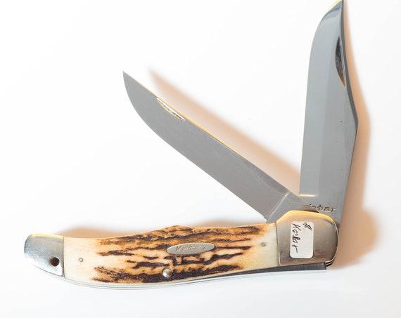 Ka-bar Stag Folding Hunter 1955 to 1965 2 Blade Folder