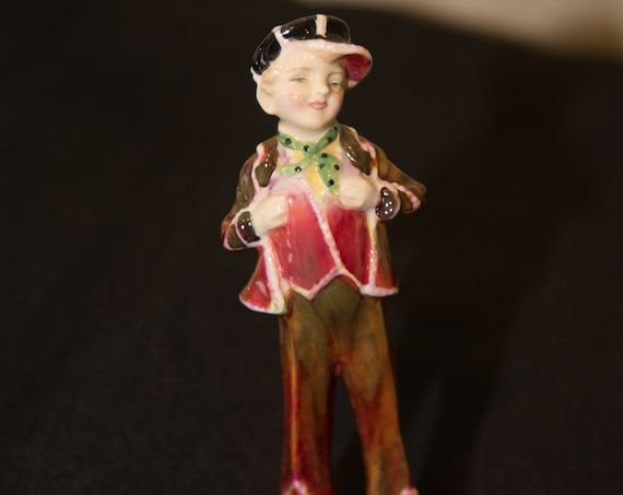 Early Royal Doulton Figurine Artist Signed HN2035 Pearly Boy Early 1940s  5.25 inches high Artist Signed BP Reduced