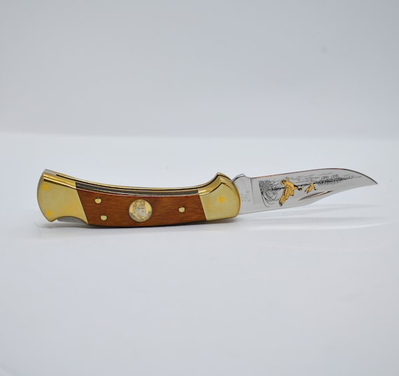 Buck 110 Ducks Unlimited Limited Edition Knife 1987 With Original Box Limited edition Collectors vintage Buck Pocket knife