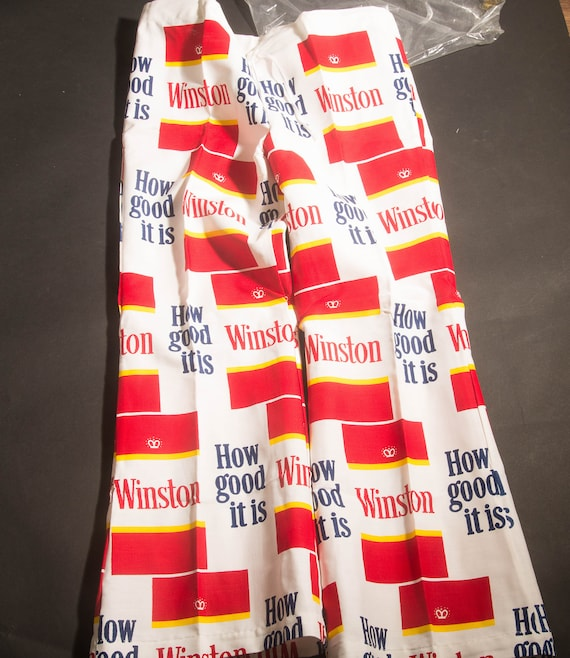 Winston Fancy Pants 1972 Bell Bottom Advertisement Pants Tobacco Winston Cigarettes NIP never wore Advertising Winston PUT ON