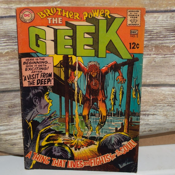 DC Comics Brother Power The Geek #2 December 1968 Little known Cool Cover Art