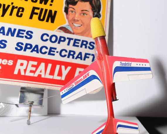 Stanzel Flying Toys Advertising Display Toy Airplanes Vintage Toy Store Display with toy planes