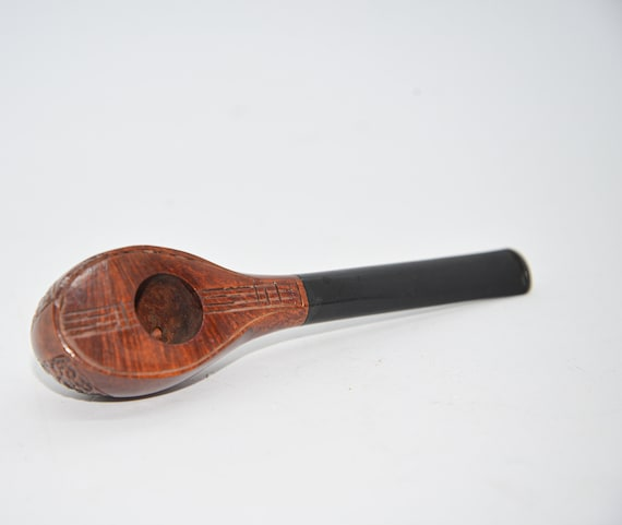 Wally Frank Italian Briar Mandolin Shaped Smoking pipe Estate find  Shipping included