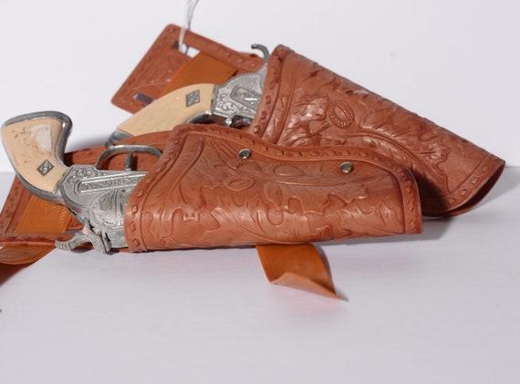 Vintage Cap Guns with vinyl Holster Cowboy Cap guns vintage toys Dressup
