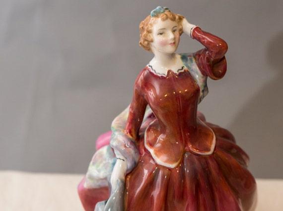 Royal Doulton Figurine  Blithe Morning HN2065 1950-1973 Red Dress Leslie Harradine