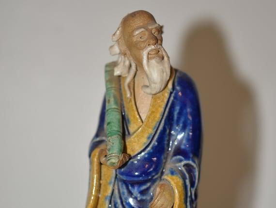 Vintage Chinese Mud Man Mudman Clay figurines Large size