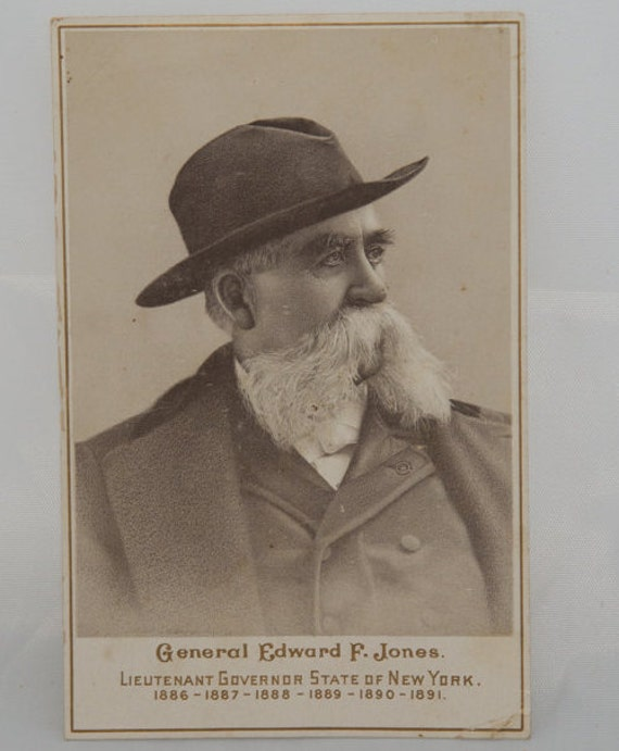 General Edward F Jones Scale Advertising Card CDV Size Binghamton NY Circa 1900 Jones He Pays the Freight Scale Company