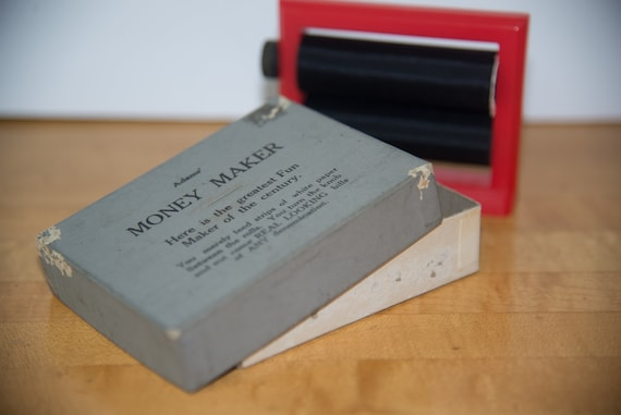 Vintage 1950s Adams Magic Trick Money Maker Magicians Prank Complete with instructions and fake bill Free ship