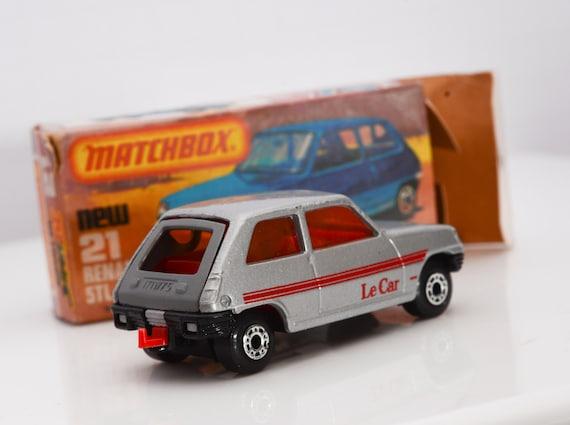 Vintage Matchbox Renault 5tl Amber Windows  No 21 MIB Boxed Superfast Le Car 1978