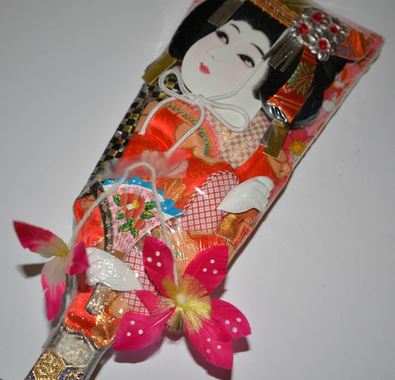 Hagoita Japanese. Paddle Doll Three dimensional Asian Doll Toy