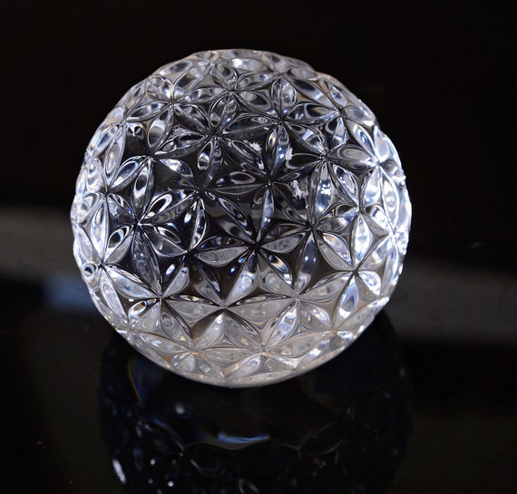 """Waterford Crystal Times Square Paperweight Paper Weight Star of hope Huge 3"""" Crystal Ball"""