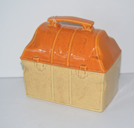 McCoy Cookie Jar 357 Lunch Box for Lunch Box or Cookie Jar collector Break room Cookie Jar Yellow McCoy