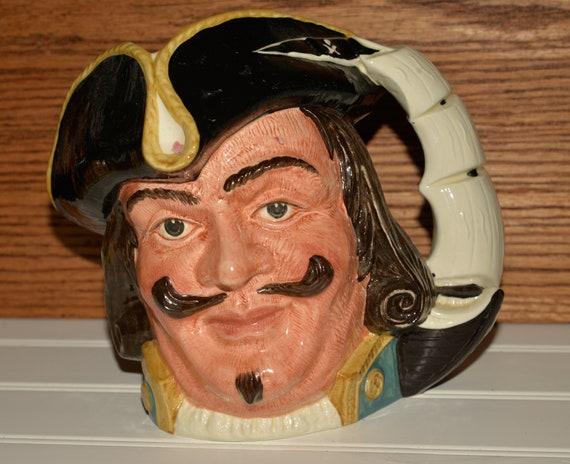 Large Captain Morgan Toby Jug Royal Doulton D6467 Vintage Toby Jug 7 inches high