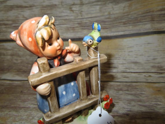 "Hummel Goebel Signs of Spring 4 "" figurine TMK 3 3 lines 1964-72 Blue Bird"