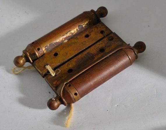Circa 1800s Brass Spring Hinge Bommers Antique Door Hardware