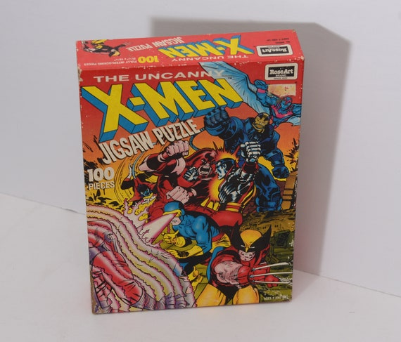 X-Men Unopened MIB Jigsaw Puzzle Rose Art The Uncanny X-Men Marvell Factory Sealed 1992