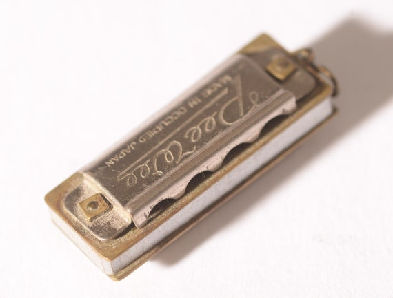 Tiny Miniature Harmonica Charm Works Occupied Japan Pee Wee Free USA Ship