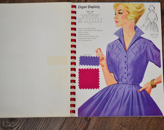 1950s 60s Hoover Uniform Catalog and Sample Fabrics Vintage Style catalog