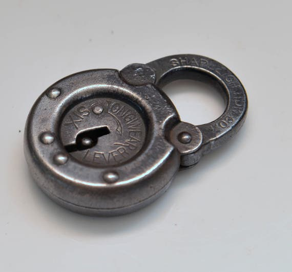 Shapleigh Round Padlock Steel Chunky Steam Punk industrial Lock Six lever padlock