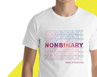 "Nonbinary ""Thank You"" Short-Sleeve Unisex T-Shirt"
