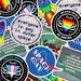 """Christina reviewed Queer Sci-Fi Stickers (3"""" x 3"""") Queer Trans Nonbinary Sci-Fi Outer Space Gay Stickers"""