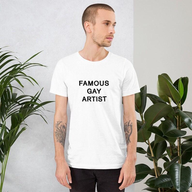 Famous Gay Artist Short-Sleeve T-Shirt  LGBT Gay Lesbian image 0