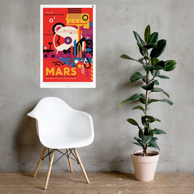Mars Mission NASA JPL Outer Space Poster image 0