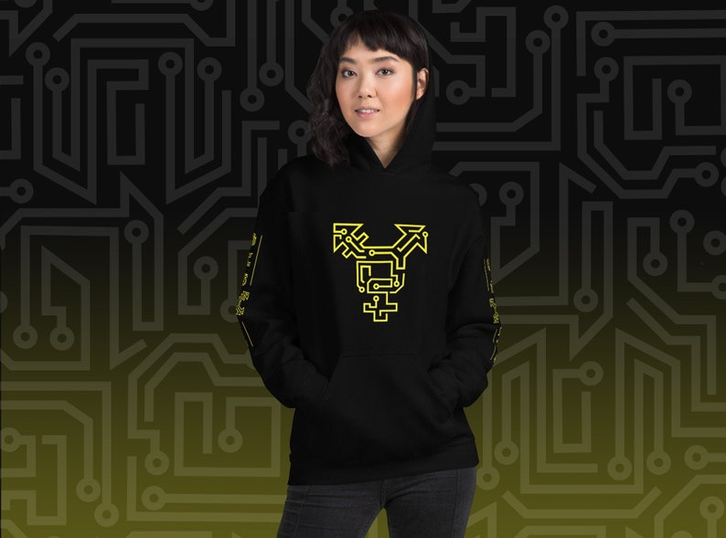 CYBORG Trans Symbol Hoodie with Sleeve Lettering image 0