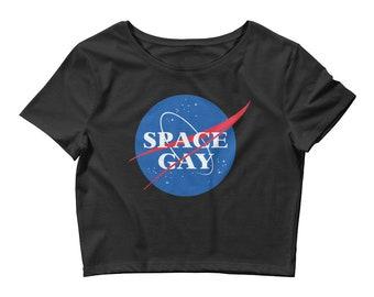 Space Gay NASA Logo Crop Top Tee