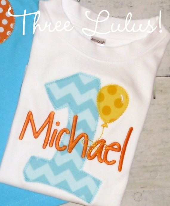 c1489fbd0 Balloon Birthday Shirt Number Applique Personalized | Etsy