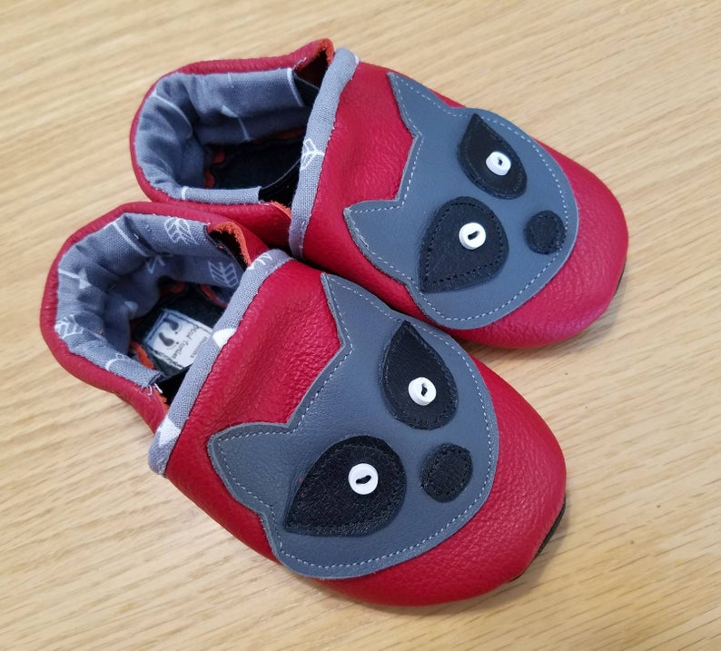 80c6a3a8279c1 Baby boy red raccoon shoes size 4/ 6-12 months | Etsy