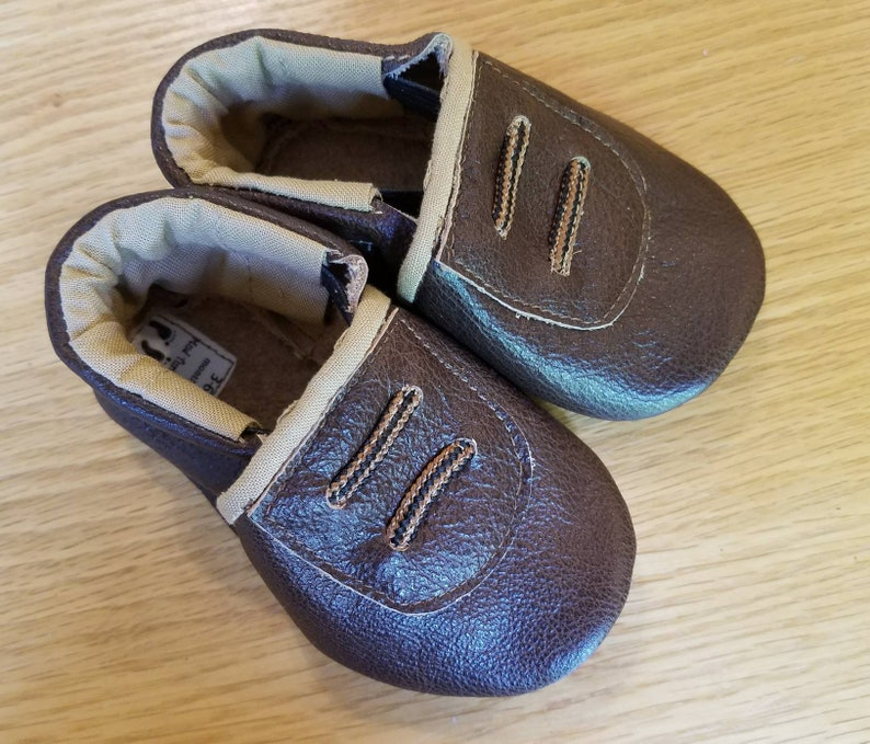 487f15e0cf254 Brown baby shoes size 3-6 month mud turtles baby shower gift | Etsy