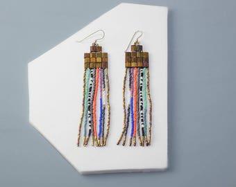 Copper Streamer Earrings- Made to Order