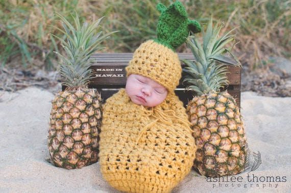 Pineapple Newborn Outfit Newborn Pineapple Prop Crochet