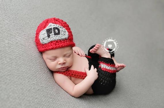 Girl and Boy Firefighter set newborn Fireman set Baby Fireman Set Twin photography