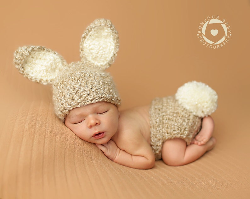 f00b166d413 Newborn Bunny Photo Prop  Furry Baby Bunny Prop Gender Neutral