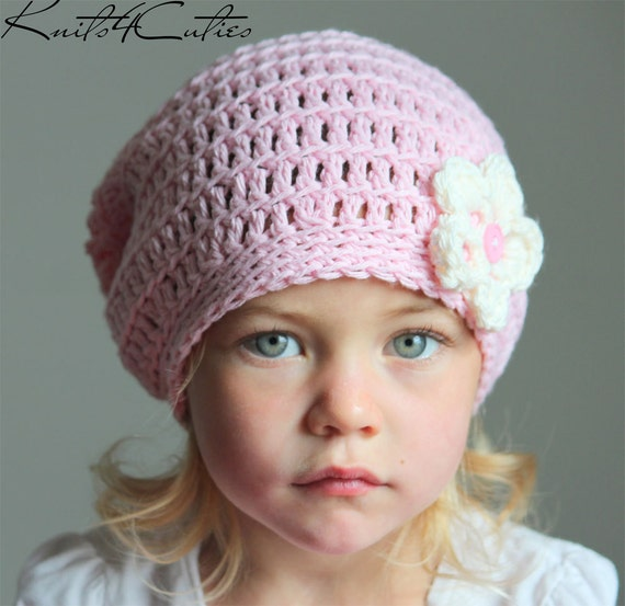 Crochet slouchy hat for girl baby girl slouchy hat light  13c9af395f3