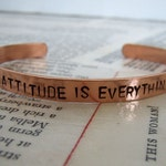 Copper Bracelet With Saying - Word Bangle - Cuff With Saying - Copper Cuff