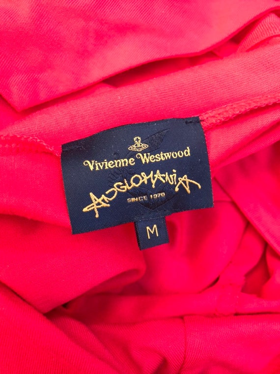 Vivienne WESTWOOD 1990s red jersey pleated wrap g… - image 6