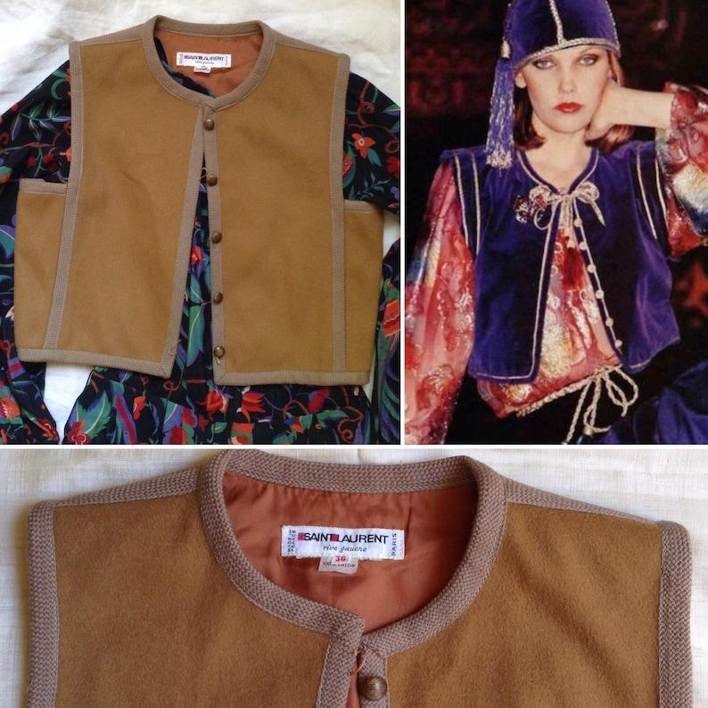 647a5bb0c9d Yves SAINT LAURENT 1976 Russian collection copper wool vest | Etsy