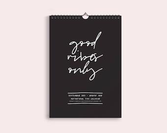 Motivational Type 2019 Calendar – 2019 Wall Calendar - Weekly Planner - 2019 Calendar - Year planner