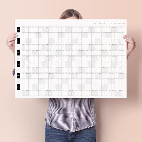 Unito Calendario Accademico.Pianificatore Classico 2019 2020 Accademico Parete Calendario Accademico Anno Planner Planner Mensile Planner Settimanale Studio Planner