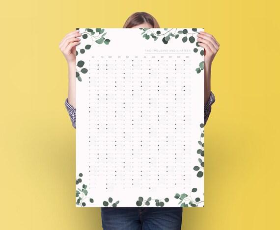 2019 eukalyptus wand planer kalender 2019 jahresplaner etsy. Black Bedroom Furniture Sets. Home Design Ideas